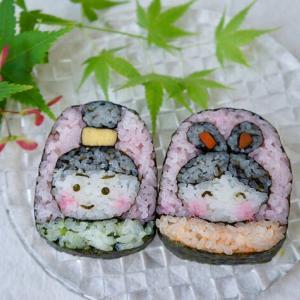 七夕の飾り巻き寿司
