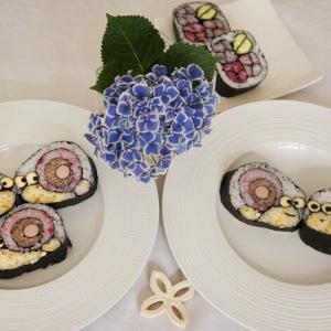 6月の飾り巻き寿司「かたつむり」レッスンでした