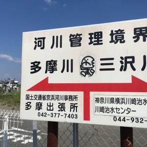 三沢川水門と二ケ領上河原堰堤