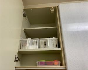 キッチン・吊り戸棚。