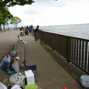琵琶湖でコアユ釣り