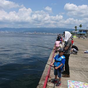 鳴尾浜でお魚釣り