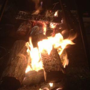 今夜の焚き火