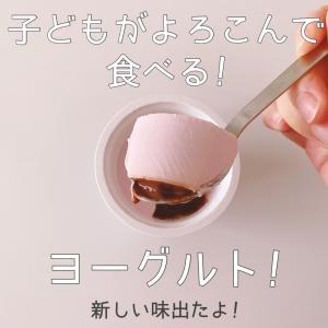 子どもが喜んで食べるヨーグルト!新味発売!