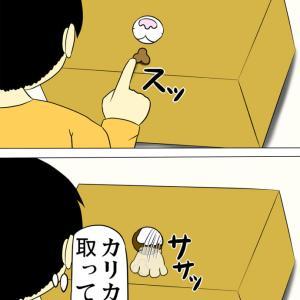 箱から手が