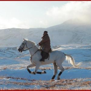 【暴れん坊将軍】金正恩、白馬に乗って白頭山を駆ける (画像集)