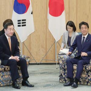 日韓首相会談、大統領の親書 案の定中身なし