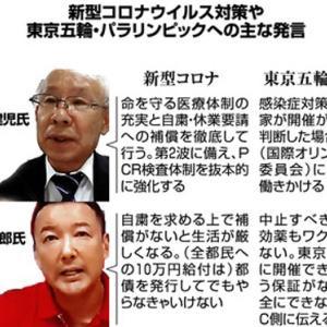 宇都宮健児「五輪中止!」 山本太郎「五輪中止!」