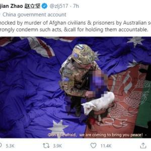 豪モリソン首相、中国外務省報道官の偽画像投稿巡り謝罪を要求「中国政府は恥を知るべき」