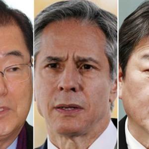 【外務省発表】23日午前に日米韓外相会談