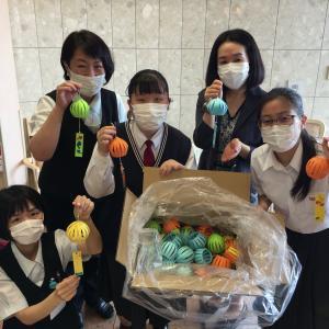 西陵高校の生徒さんからの手作りプレゼント♪