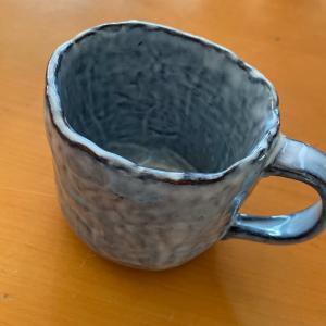萩焼でコーヒー