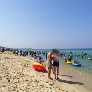 ソウルからサクッとKTXで江陵1泊2日旅行【6】キョンポデ海水浴場は大混雑…
