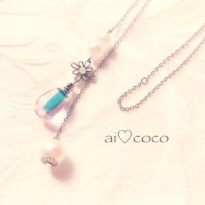 ラリエットのメモリーオイルネックレス☆*:.。. o