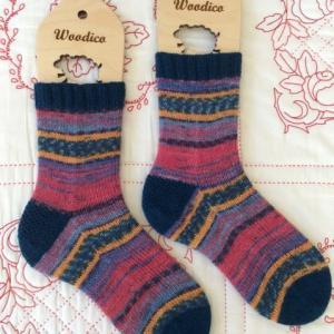 手編み靴下 作品NO.301