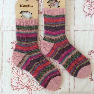 手編み靴下 作品NO.304