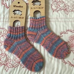 手編み靴下 作品NO.336