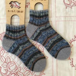 手編み靴下 作品NO.339