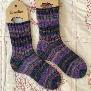 手編み靴下 作品NO340