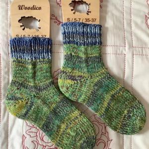 手編み靴下 作品NO.356