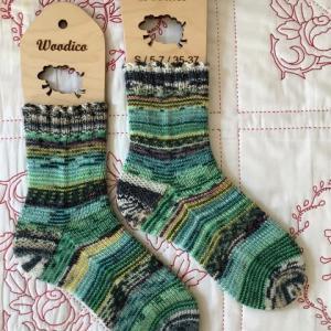 手編み靴下 作品NO.366