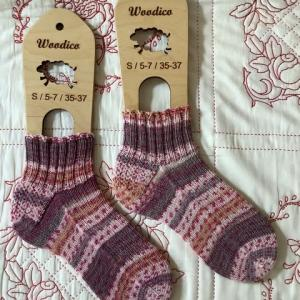 手編み靴下 作品NO.367