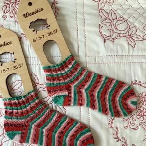 手編み靴下 作品NO.368