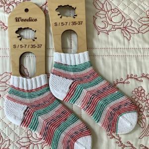 手編み靴下 作品NO.369