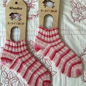 手編み靴下 作品NO.370
