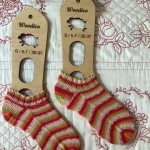 手編み靴下 作品NO.371