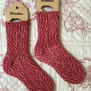 手編み靴下 作品NO.372