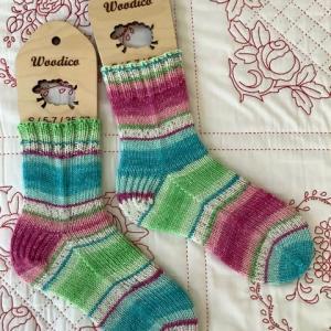手編み靴下 作品NO.380