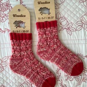 手編み靴下 作品NO.383