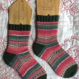 手編み靴下 作品NO.296