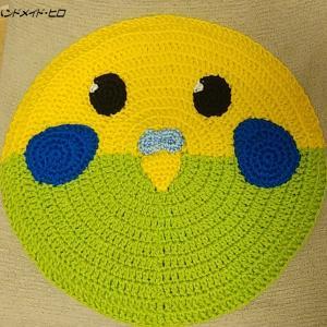 インコの円座(黄色&黄緑色)