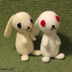 たれ耳ウサギのあみぐるみ