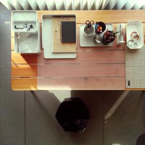 息子の工作スペースと部屋