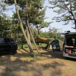 父の日キャンプは娘夫婦に合流!