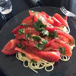 トマトのスパゲッティーが食べたい❗️