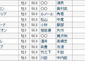 【神戸新聞杯 2019】血統予想展望・出走予定馬/予想オッズ、サートゥルナーリア復権へ!!