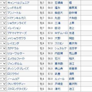 【富士ステークス 2019】血統予想・枠順確定、アドマイヤマーズ古馬の壁なし!!