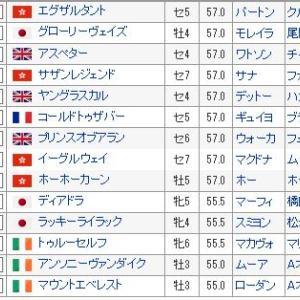 【香港国際競争 2019】血統最終予想・日本馬応援も、馬券は・・・