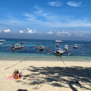 レンボガン島からのバリ島へ移動 ウブドのホテルへ目指しました。
