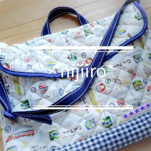 入園グッズ(男の子)①~絵本袋と体操着袋とズック袋