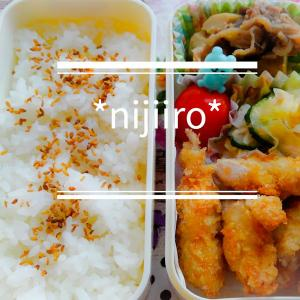 女子高校生のお弁当~鶏ササミカツと牛肉と里芋の煮物弁当