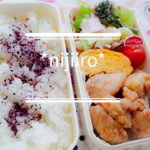 今日から新学期!女子高校生のお弁当~鶏から揚げと春キャベツサラダ弁当