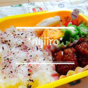 幼稚園児と女子高校生のお弁当~甘辛肉だんご弁当 と夏まつり
