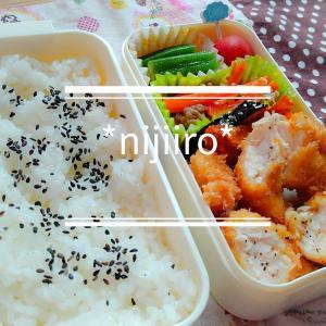 女子高校生のお弁当~ササミカツとにんじんのきんぴら弁当