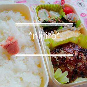 女子高校生のお弁当~ポン酢ハンバーグ弁当