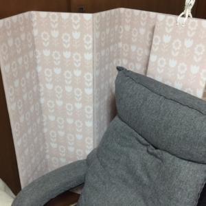 防寒対策:生協で購入の簡易型{風よけ屏風}を頂きました!!